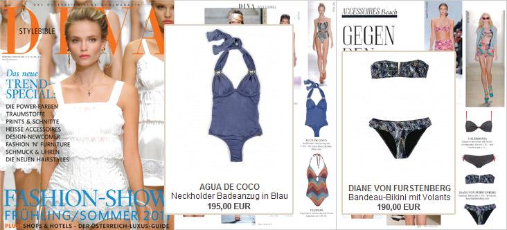 Aqua de Coco und Diane von Furstenberg schreiben in der Diva Stylebible Geschichte