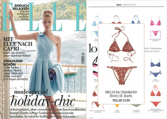 From St. Barts to the Elle: the triangle bikini by Melissa Odabash
