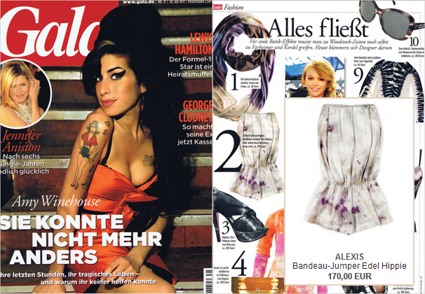 An 'it-piece' in the Gala magazine: the bandeau jumper by Alexis