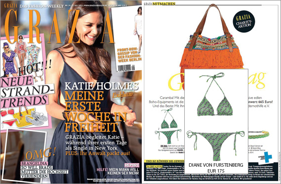 First prize for Grazia readers: the sexy bikini by Diane von Furstenberg!