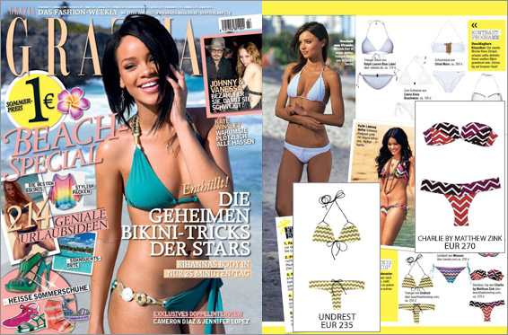 Grazie Grazia! For the best bikini tips of the season and from our shop