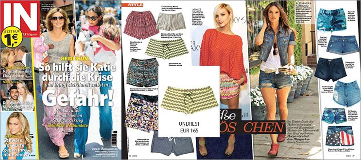 Con unos shorts de Undrest ella será la mejor vestida, incluso saldrá en la revista IN