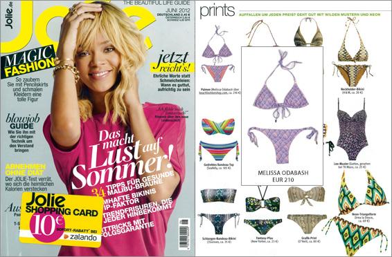 Très jolie luce el bikini con suaves estampados de Melissa Odabash y no solo en la revista de moda
