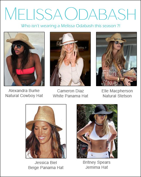 Many stars - one trend! Everybody wants a beach hat by Melissa Odabash