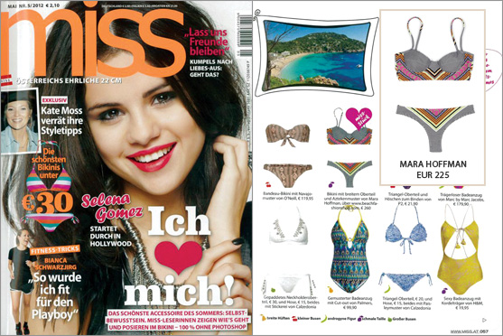 Mara Hoffman und BeachFashionShop.com machen in Österreich von sich Reden