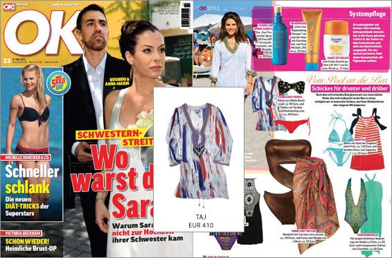 Del estilismo a la revista OK!: la túnica de Taj disponible en nuestra tienda se presenta como una auténtica prenda It