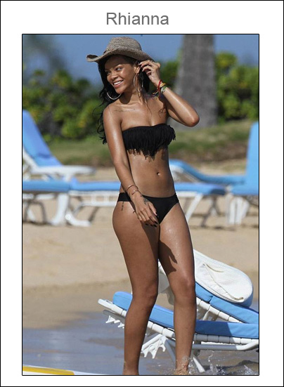 You can stand under my umbrella or wear my bikini: Rhianna con bikini de L Space