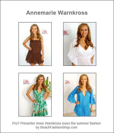 Private pleasure: TV presenter Annemarie Warnkross and beachfashionshop.com