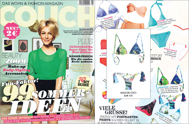 Spotted in Couch magazine: the Underwater Bikini by Agua de Coco