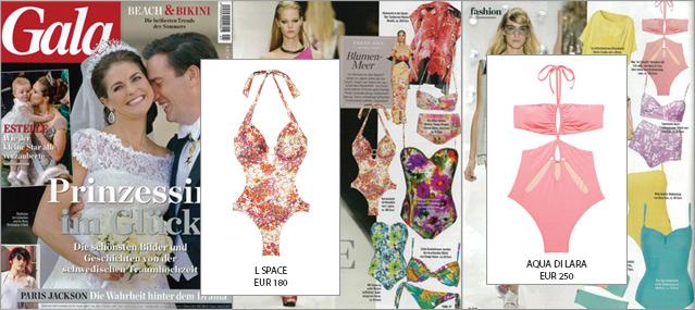 La revista gala se va de playa con los monokinis de L Space y Aqua di Lara de nuestra tienda