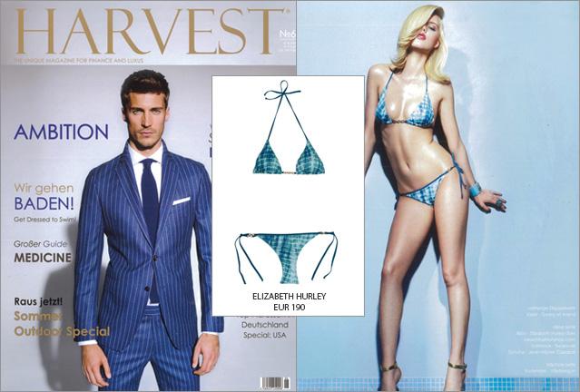 Ganz schön heiß: Der Elizabeth Hurley Bikini im HARVEST Magazin