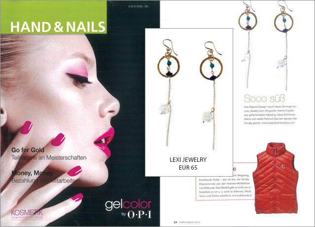 Beautiful jewellery suggestion in the magazine Hand and Nails