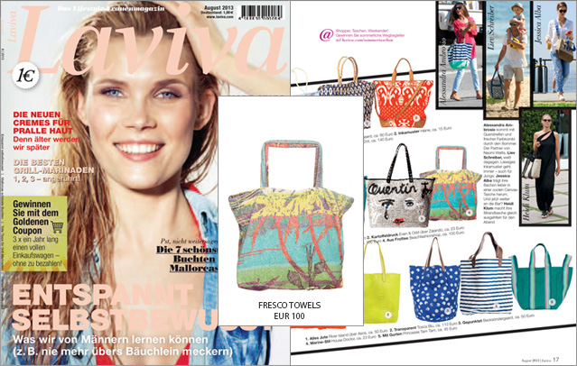 Now in Laviva: the beach bag by Fresco Towels