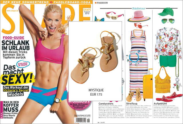 Shape bringt Ihre Füße mit glamourösen Sandalen von Mystique in Bestform