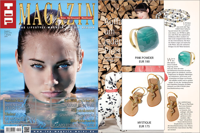 Bling, Bling Ring and Sandals. The accessory must-haves from Top Magazine