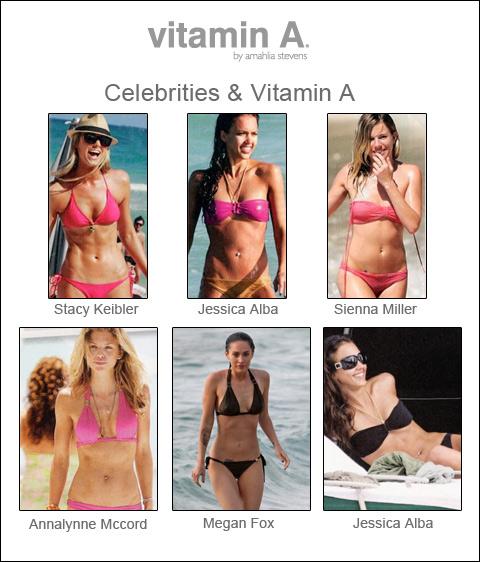 Vitamin A mantiene a las estrellas en forma y guapas