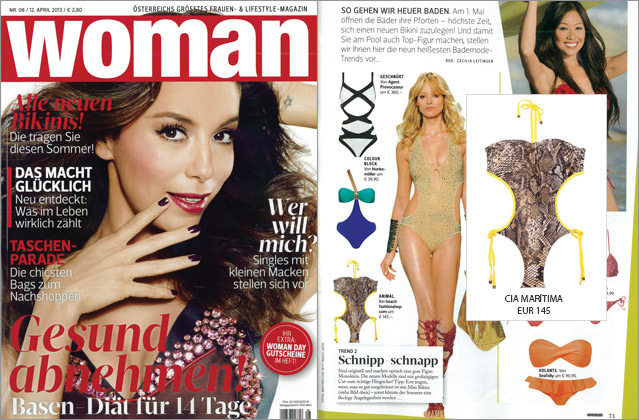 Dangerously hot: the monokini by CIA Marítima in the fashion magazine Woman
