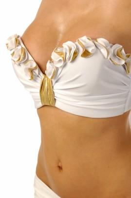 Glam Appeal – Magic White Push up Bandeau Bikini