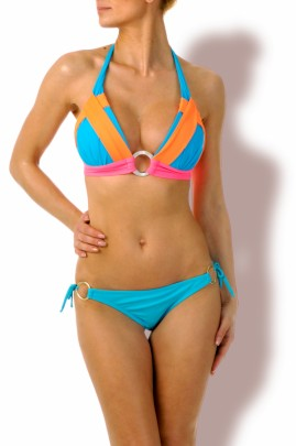 Triangel Bikini Neon Türkis Mix