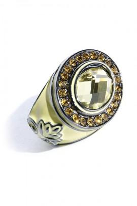 Anillo XXL con piedra de cristal