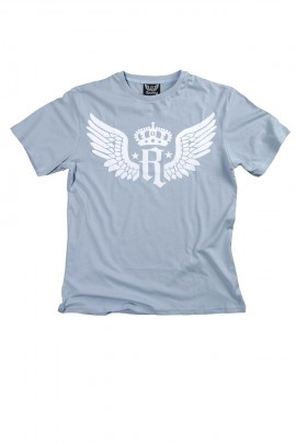 Wings print in light blue