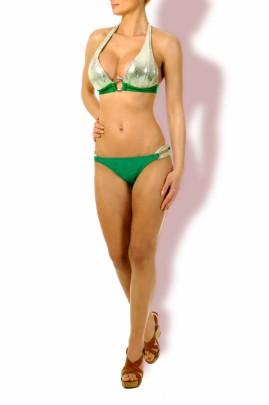 Triangel Bikini Silber Glamour