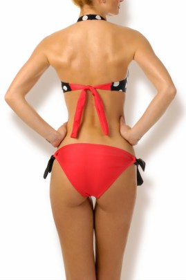 Happy Holiday - Neckholder Punkte Bikini