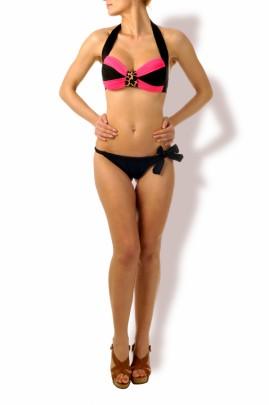 Hot Look – Push up Bandeau Bikini Powder