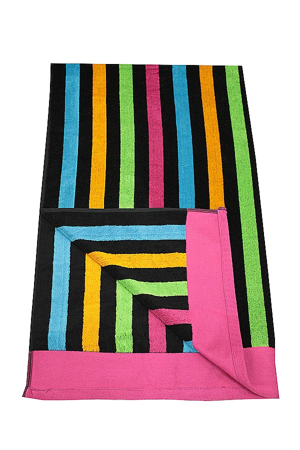 Bathing towels in summer colours