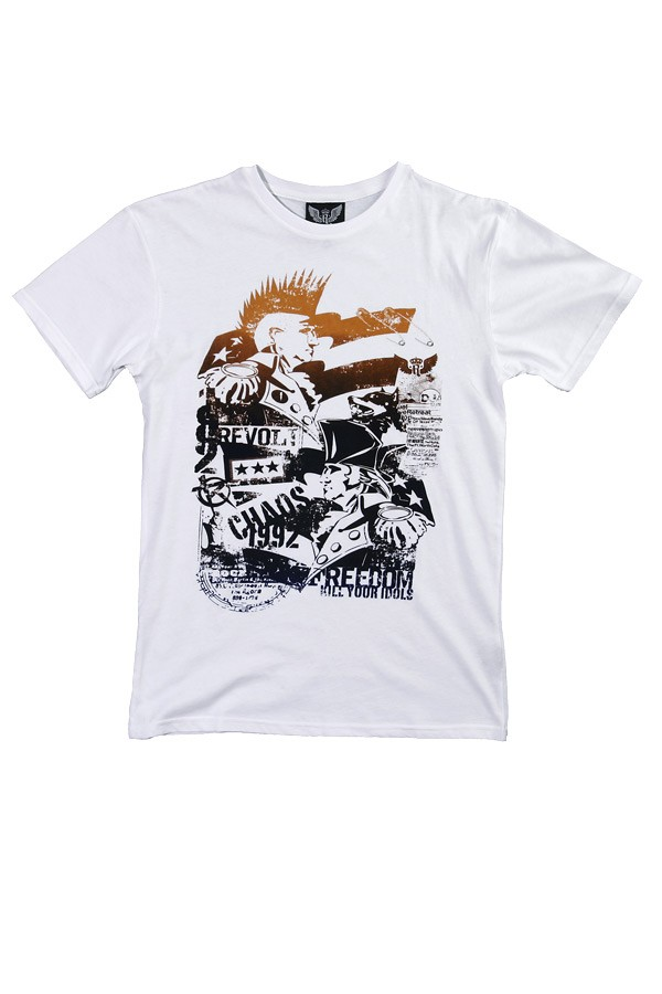 White t-shirt with revolution print