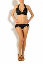 Luxury - Schwarzer Makramee Triangle Bikini