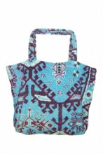 Terry Beach Bag with Ethno Print