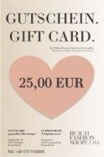 Geschenkgutschein ab 25,00 EUR