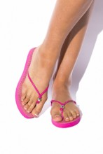 Thong sandals Pink Snake