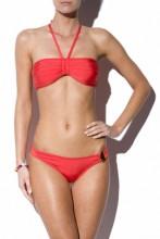 Red Halterneck Bandeau Bikini