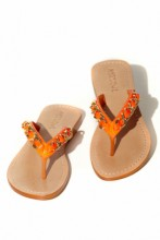 Sandals in the fashion colour orange