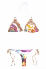 Triangle Bikini Snake & Flowers