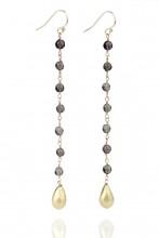 Pendientes de perlas y oro