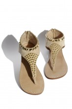 Suede sandals with studs