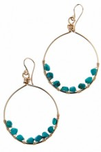 Earrings Turquoise Hoops