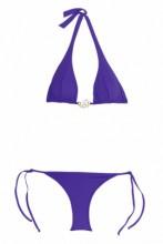 Purplefarbener Halterneck Bikini