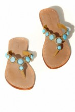 Sandals Turquoise Glamour