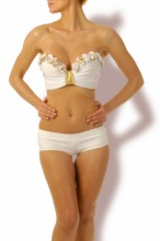 Glam Appeal – Magic White Push up Bandeau Bikini