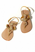 Sandals with Swarovski seahorse