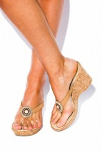 Wedges sandals with Czech crystals