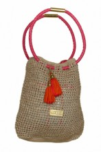 Hobo Beach Bag in Nude