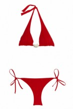 Roter Halterneck Bikini Melody