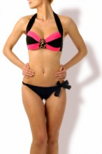 Hot Look – Push up Bandeau Bikini Powder