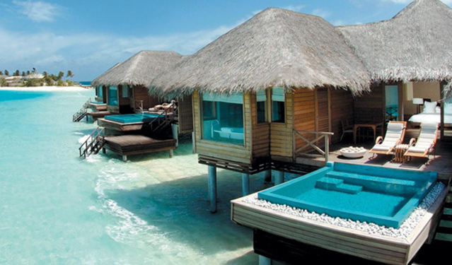Huvafen Fushi luxury resort in Maldives