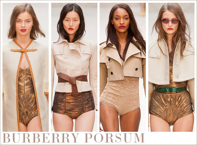 Burberry Prorsum – A new trend on the beachwear sky